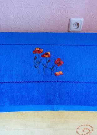 Продам  новое махровое полотенце хлопок 70 см на 1 м 40 см