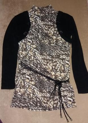 Теплая женская туника свитер б. у. Размер 40-42