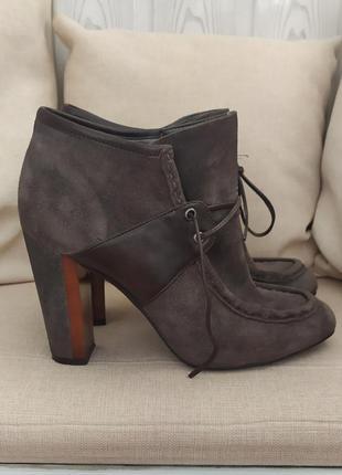 Ботинки ботильоны замшевые кожаные