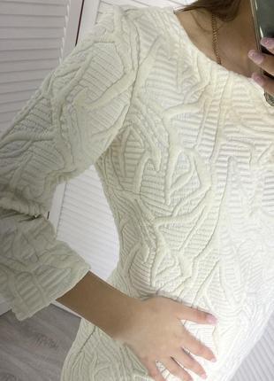 Платье белое kiwe теплое зима осень 40