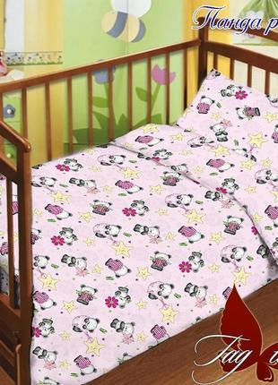 Комплект постельного белья детский в кроватку, 100% хлопок