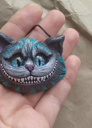 Чеширский кот брошь кулон
