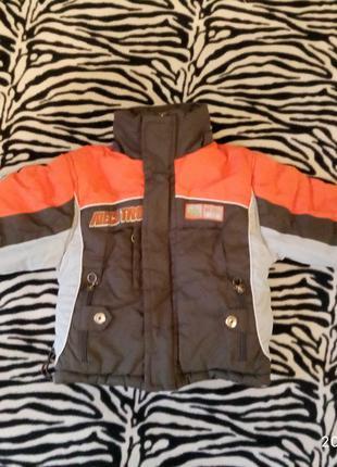 Куртка зимняя на мальчика, рост 92-98 см