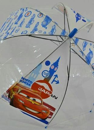 Прозрачный зонтик тачки зонт макквин 2-6 лет