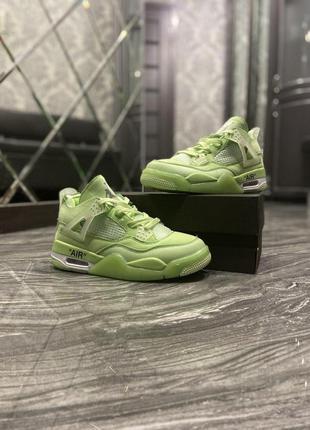 Nike air jordan 4 neon green