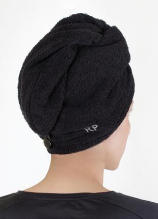 Полотенце-тюрбан для сушки волос черное red point