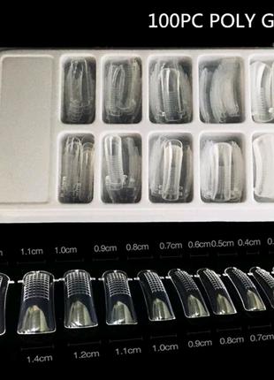 Набор верхние многоразовые формы для наращивания ногтей маникюра