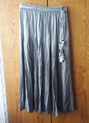 Новая широкая юбка irmak trico произв.турция. цвет серый омбре хл