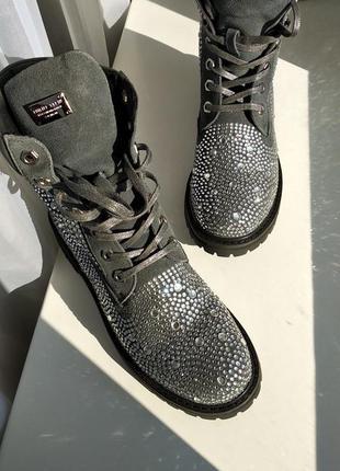 Philipp plein ботинки в камнях