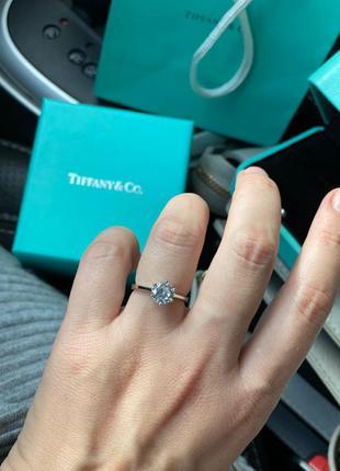 Женское серебряное кольцо в стиле tiffany&co