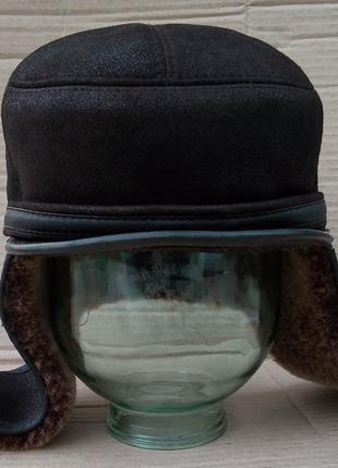 Мужская зимняя шапка из овчины р-р 57
