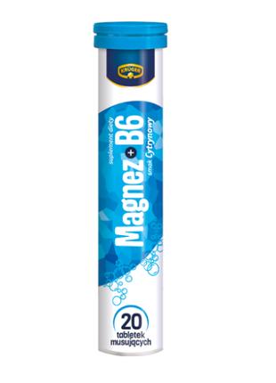 Витамины растворимые Кругер Kruger Magnez + B6, без сахара, 80г
