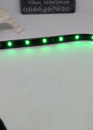 Лента светодиодная зеленая 30 см в силиконе водозащищенная
