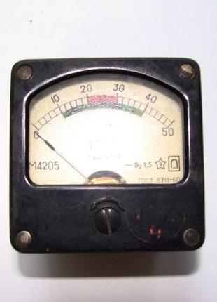 Микроамперметр 50мкА М4205 СССР 1976 г. б/у