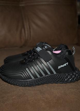 Модные черные кроссовки, размеры: 31, 32, 36