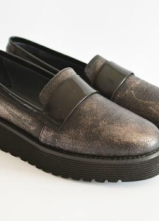 Кожаные туфли лоферы NAPOLEONI  Италия оригинал 36 37 39 новые