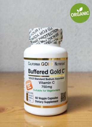 Витамин С Буферизованный, Gold C, 750 мг, California Gold, 60 шт