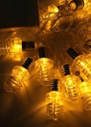 Гирлянда качественная с лампочками 20 л., 6,5 м. цветные 5 видов