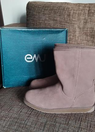 Новые100% оригинал ботинки на меху emu замша + мех us8,9 угги ...