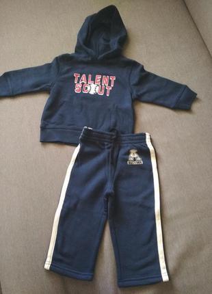 Спортивный детский теплый костюм флис, новый, сша, на...
