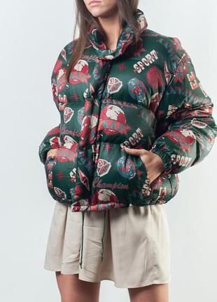 Женская куртка puffer vintage naf-naf down jacket