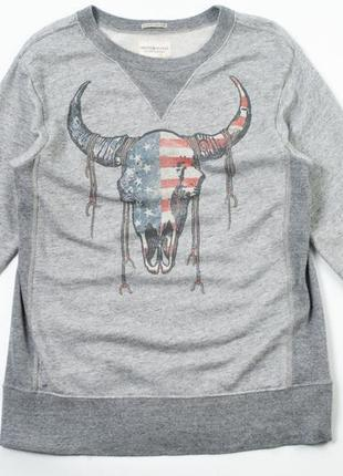 Denim&supply ralph lauren gray steel-head sweatshirt свитшот