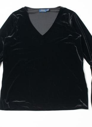 Polo by ralph lauren велюровая блузка