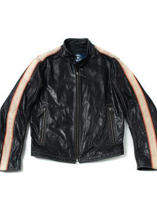Strellson biker leather jacket кожаная куртка