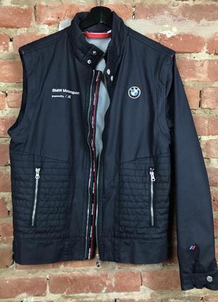 Bmw motorsport мужская куртка / жилетка безрукавка (2в1)