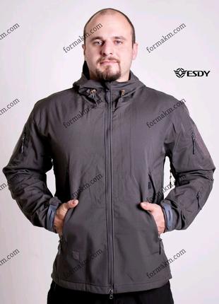 Тактическая куртка Shell ESDY TAC.-01 Gray непромокаемая