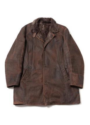 Gimo's shearling мужская кожаная куртка дубленка brunello bija...