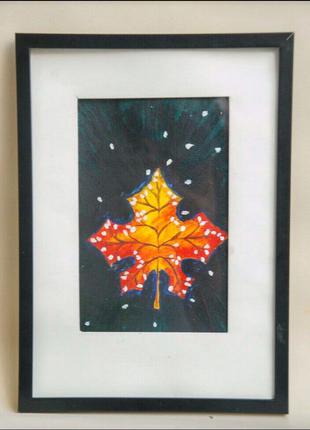 "Картина акрил ""Осенний лист"""