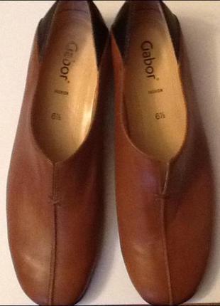 Немецкие кожаные туфли gabor 40 (26)
