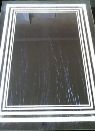 Зеркало с LED подсветкой для ванной комнаты