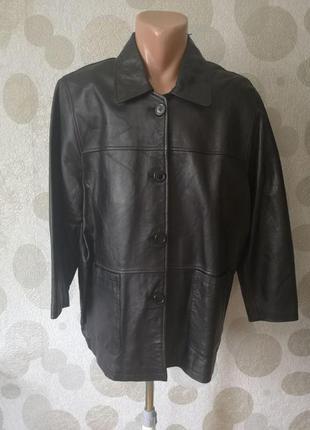 Кожаная куртка пиджак большого размера