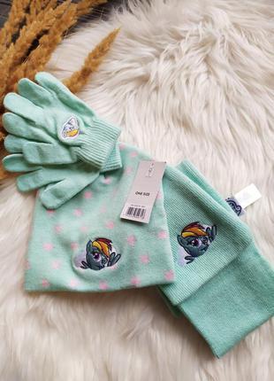 Комплект шапка, шарф и перчатки