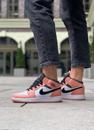 Nike jordan женские кроссовки найк в розовом цвете