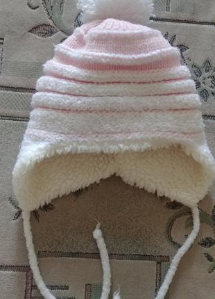 Зимняя шапочка на девочку