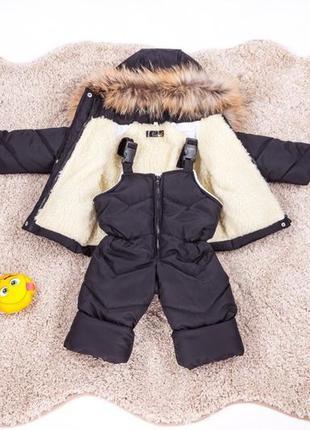 Детский зимний комбинезон и куртка