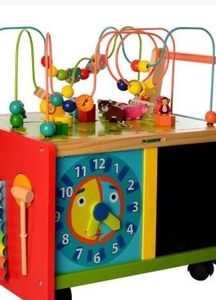 Детский деревянный игровой  РАЗВИВАЮЩИЙ ЦЕНТР MD 2001