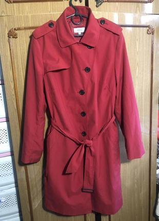 Красный тренч женский плащ длинный Marks & Spencer (M&S)