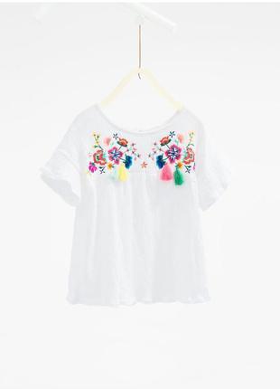 Топ блуза с вышивкой от zara,p. 152