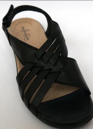 Clarks loomis черные женские босоножки сандалии оригинал