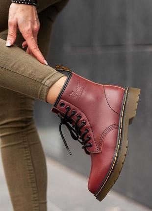 Кожаные ботинки dr. martens 1460 шкіряні черевики натуральная ...