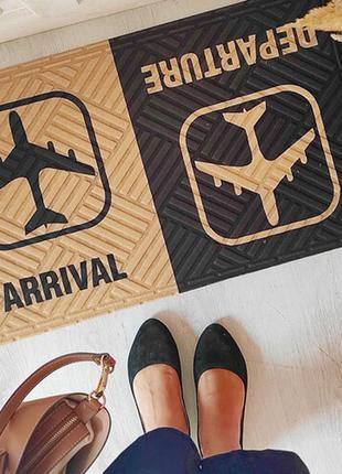 Коврик придверный с принтом arrival departure (kov_20s002)