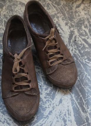 Туфли женские кожаные 38 р. Осенние женские туфли/полуботинки