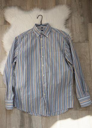 🔥🔥🔥мужская рубашка в полоску хлопок, henderson, м-л