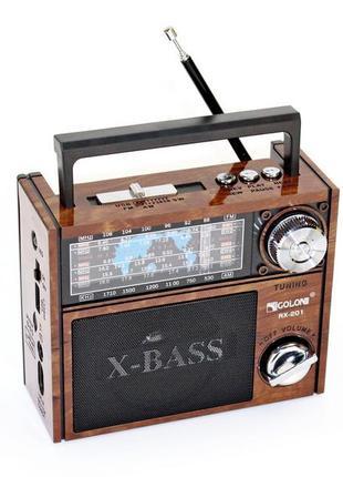 GOLON RX-201 радиоприемник портативный колонка радио