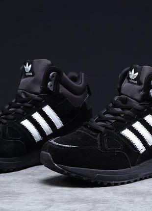Кроссовки adidas zx 750 (черные) зима