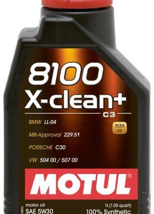 Моторное масло Motul 5W-30 8100 X-Clean+ 1л